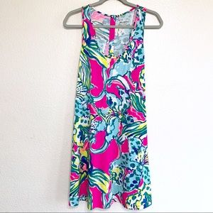 Lilly Pulitzer Pima Cotton Floral Racerback Dress